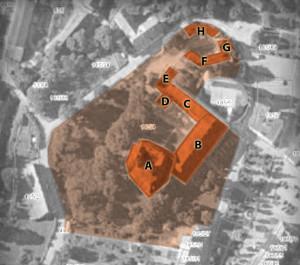 Zespół zamkowo-pałacowy z pozwoleniem na budowę - Międzylesie_14_mapa
