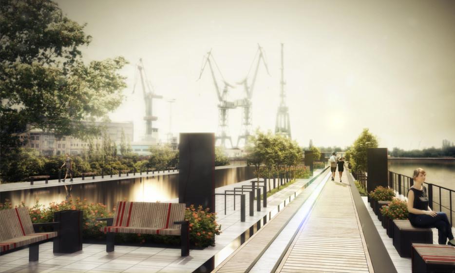 projekt mebli miejskich Gdańsk wizualizacja