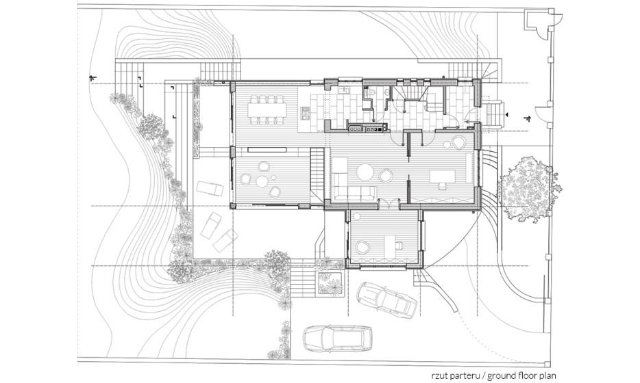 Rozbudowa domu jednorodzinnego - Willa na Biskupinie Wrocław projekt / realizacja 2014 Adamiczka Consulting (6) rzut parteru