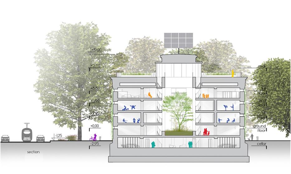 Wroclaw Nadodrze Community Center konkurs 2014 Adamiczka Consulting (8) - przekrój