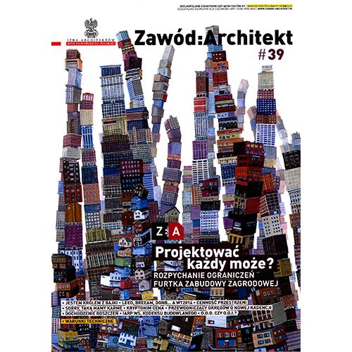 2014-09 - W magazynie Zawód Architekt ukazał się artykuł Jerzego Adamiczki (ikona)