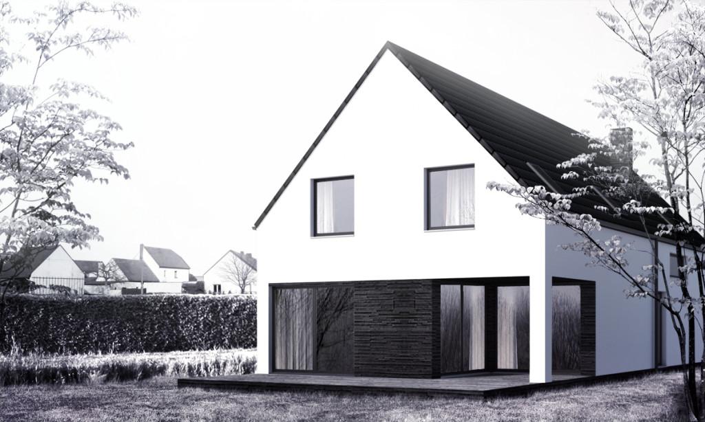 projekt domu jednorodzinnego Opole wizualizacja 3